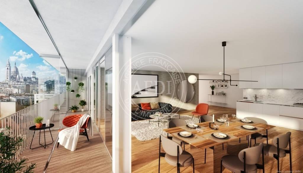 Logements neufs à Paris 18 - Résidence 122 DAMREMONT (région parisienne)